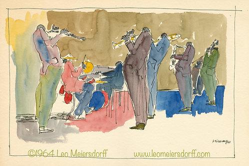 ORIGINAL Untitled 60s Jazz Watercolor