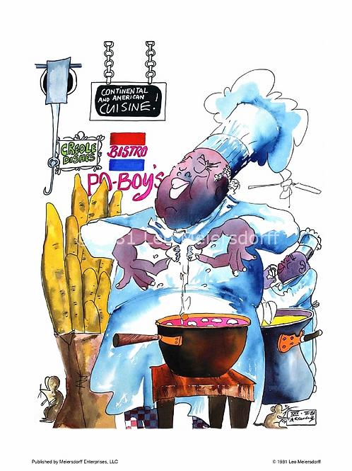 """Continental & American Cuisine!"" culinary print"