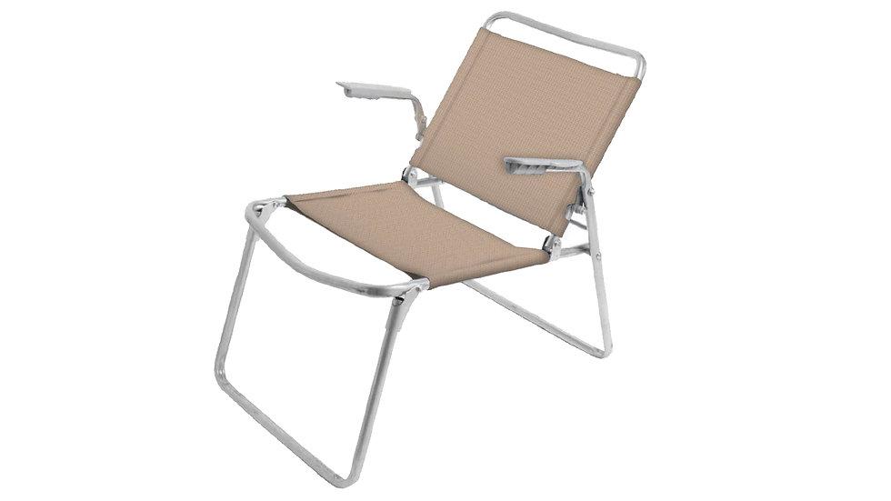 Кресло-шезлонг складное 1 песочно-желтый К1 до 100 кг