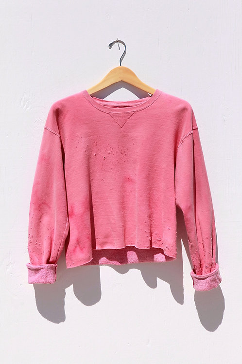 Cropped Pink Sweatshirt