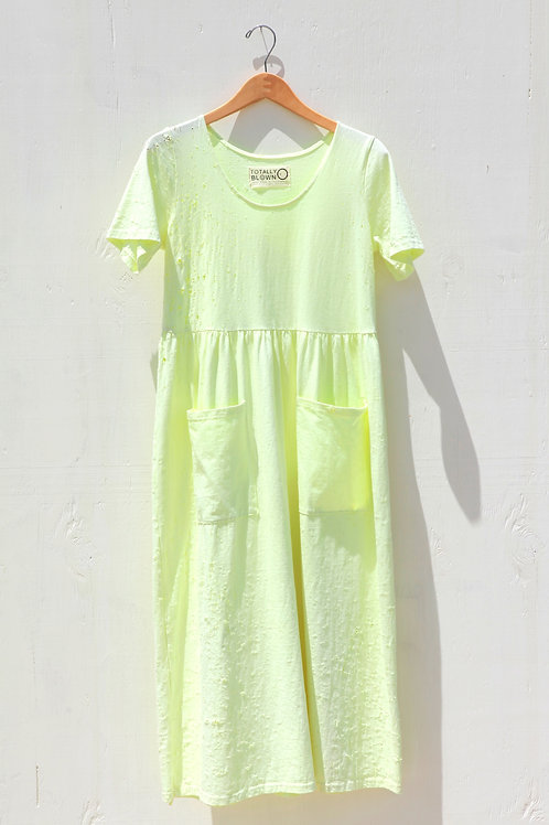 Electric Peasant Pocket Dress