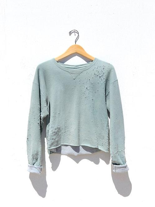 Cropped Sage Sweatshirt