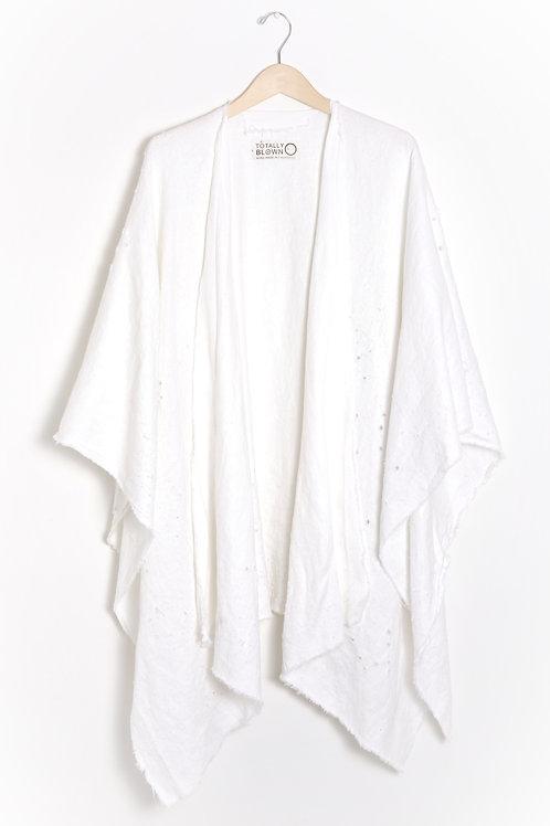 White Linen Shawl