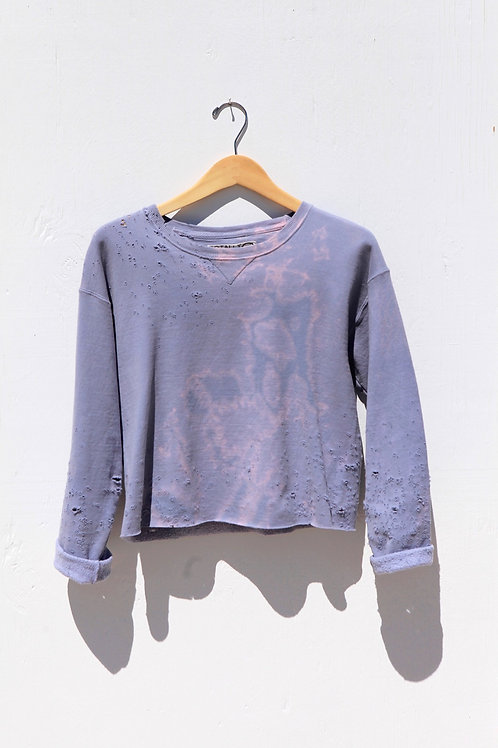 Cropped Lavender Sweatshirt