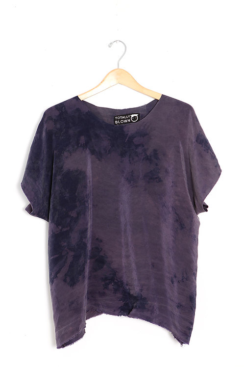 Purple Brushed Rayon Blouse