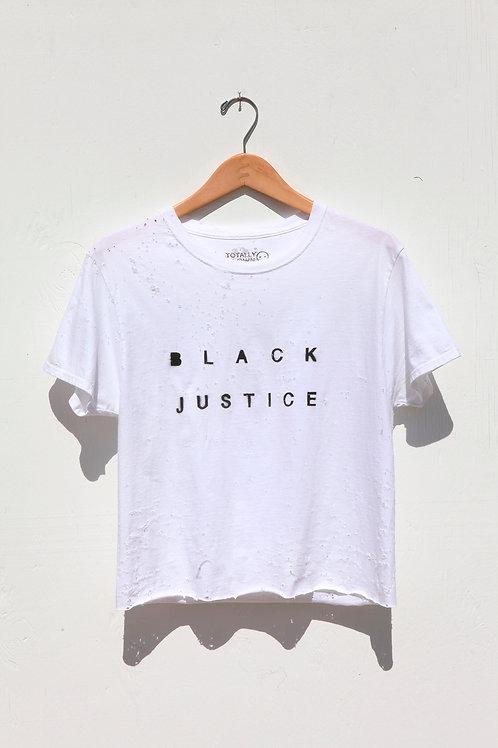 Black Justice Crop Tee
