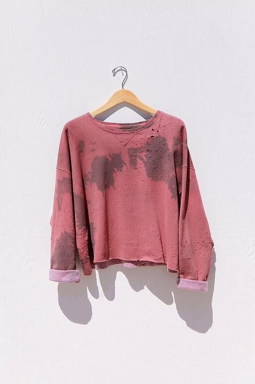 Cropped Pink/Mauve Sweatshirt