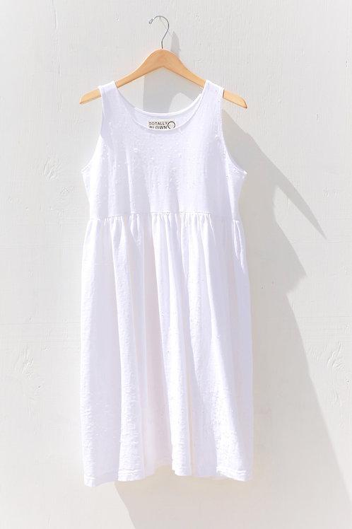 Jersey Dress White
