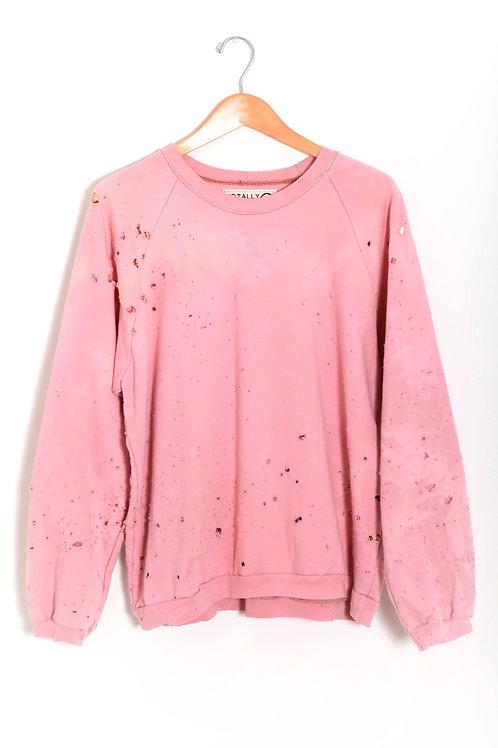Faded Pink Zebriski Sweatshirt