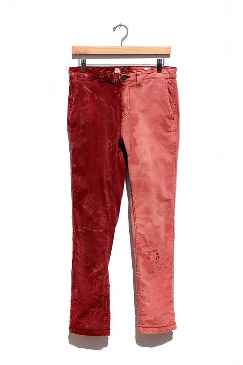 Two Tone Crimson Pants