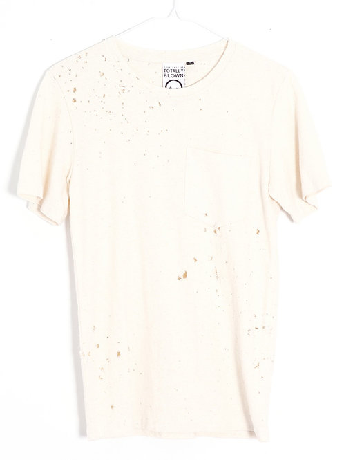 Cream Pocket Hemp Tee