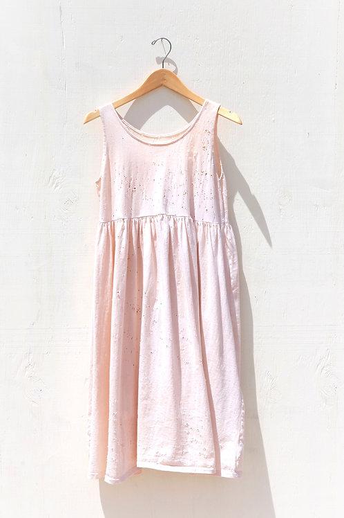 Rusted Peasant Dress Sleeveless