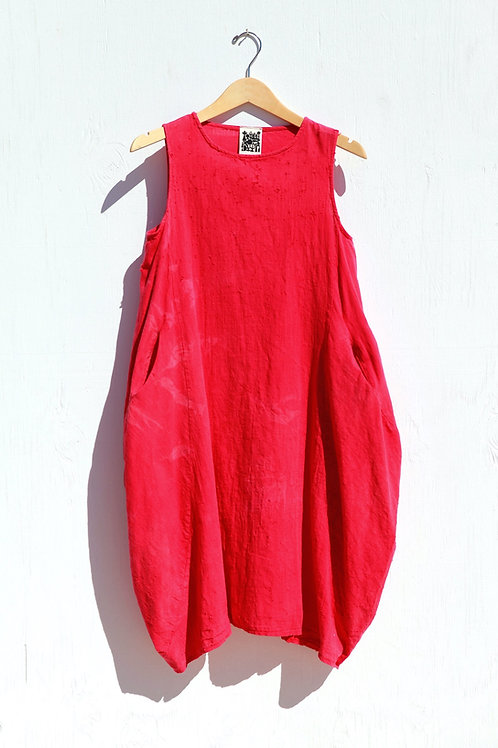 Ojai Ruby Linen Pocket Dress