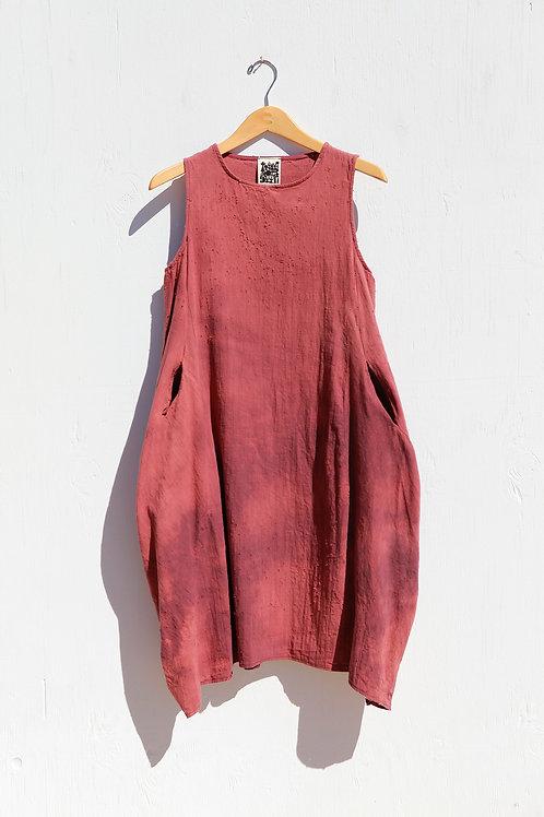 Ojai Mauve Linen Pocket Dress
