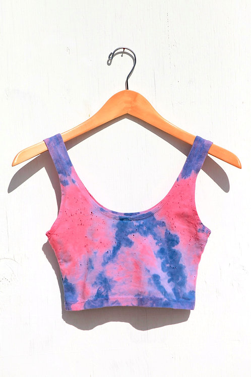 Pink and Blue Crop Tank