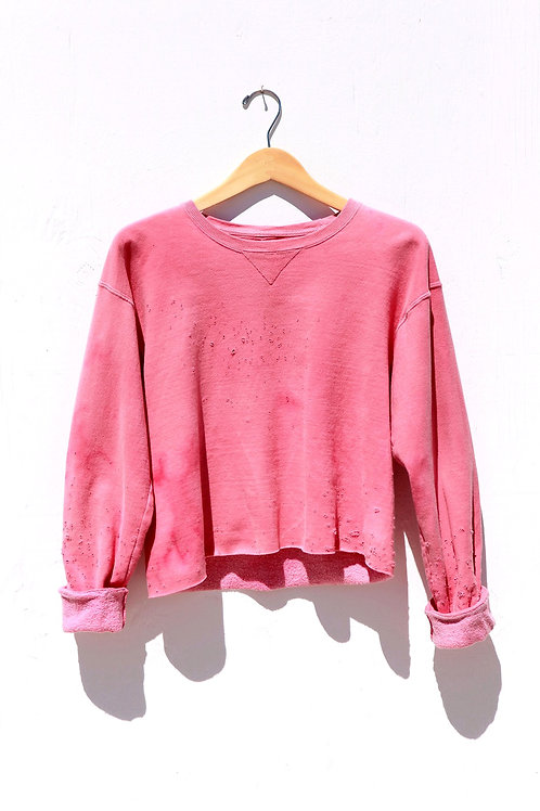 Cropped Faded Rose Sweatshirt