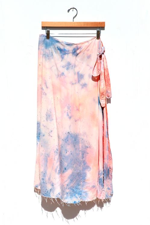 Rayon Tri-Color Wrap Skirt