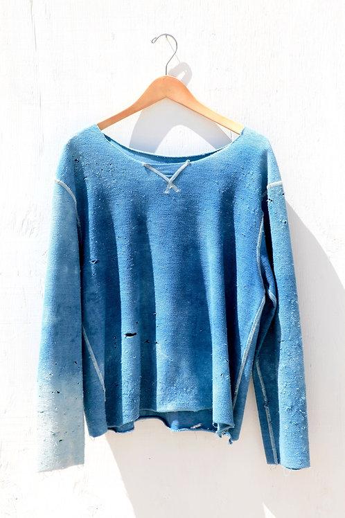 Reversible Indigo Sweatshirt