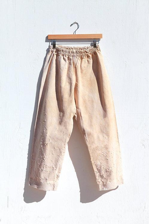 Elastic Karate Canvas Rusted Pants