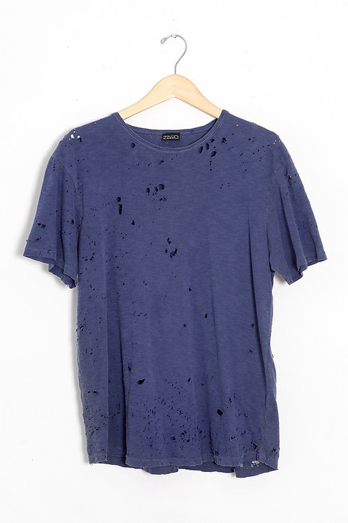 Blue Slub Cotton Shotgun Tee
