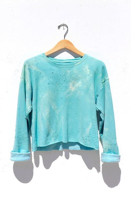 Cropped Teal Sweatshirt