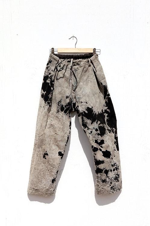 Black & Grey Karate Pant
