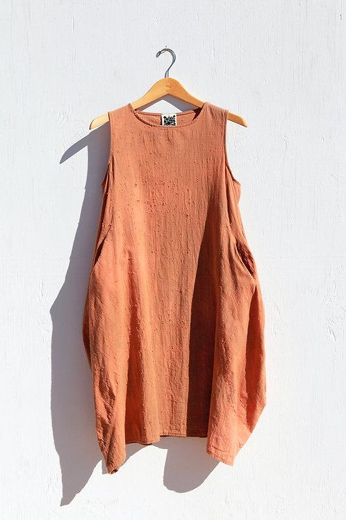 Ojai Caramel Linen Pocket Dress