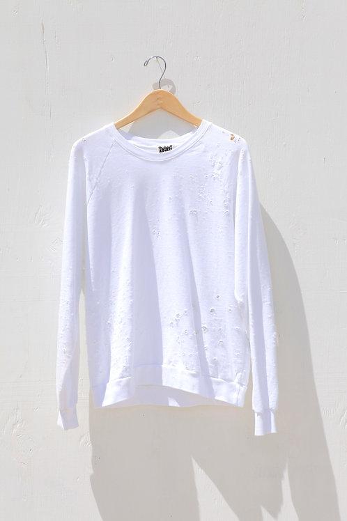 Blanco Distressed Sweatshirt