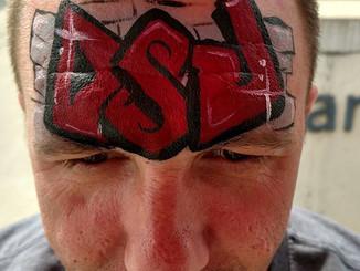 #gobucks #ohiostatefootball #facepaint #makeup #myteam #collegefootball #osu #fun #scarletandgray