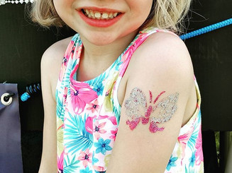 So happy!!! #glitter #tattoo #butterflytattoo #pretty #bodyart