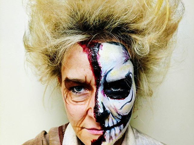 Haunt makeup can be the best kind of _fix_ out there!!! #haunted #hauntedhouse #skull #makeup #scary #awesome  #Columbus #cbus #scareatorium