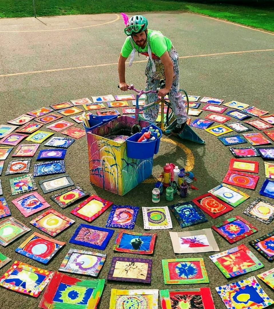 Splatterman, Pedal and Paint workshops