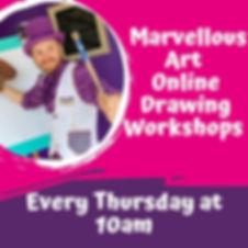 Marvellous Art Online Drawing Workshops.