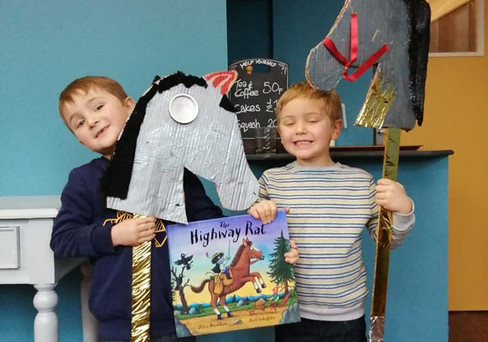 World Book Day Workshop making Hobby Horses