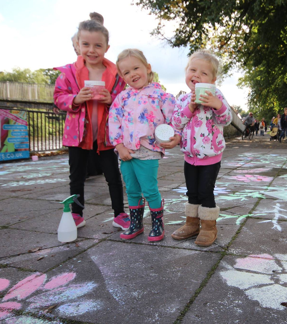 Chalk Stencilling for Lakes Alive, Kendal
