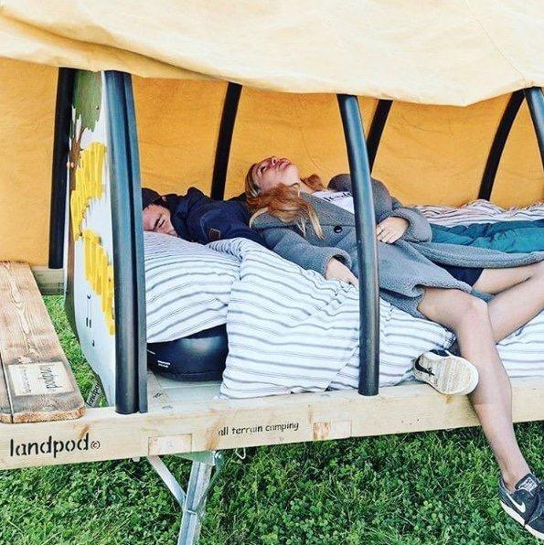 Relaxing in a Landpod