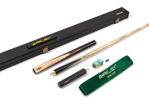 Riley England Ebony Series 4 - 3/4 Cut Snooker Cue & Case Set