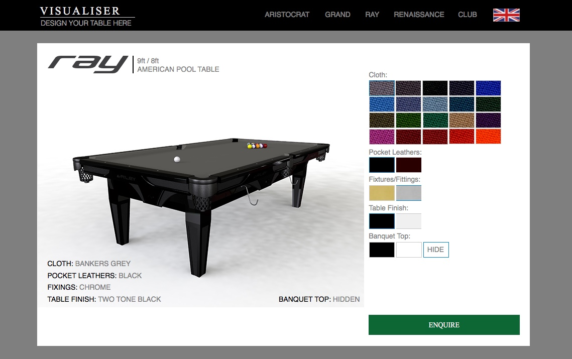 Riley Table Visualiser
