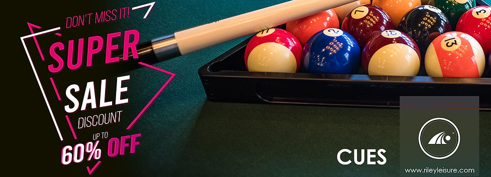 Riley Leisure Snooker and Pool Cue Sale