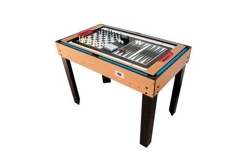 table multi jeux 12 en 1 riley queues de billard et. Black Bedroom Furniture Sets. Home Design Ideas