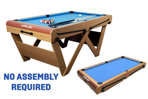 Riley Ft RollingLay Flat Folding Pool Table - Fold out pool table