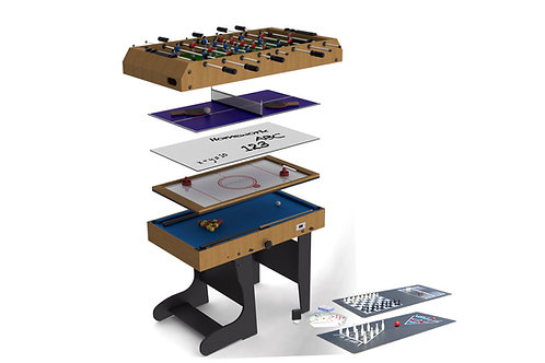 Riley 4Ft 12in1 Folding Multi Games Table