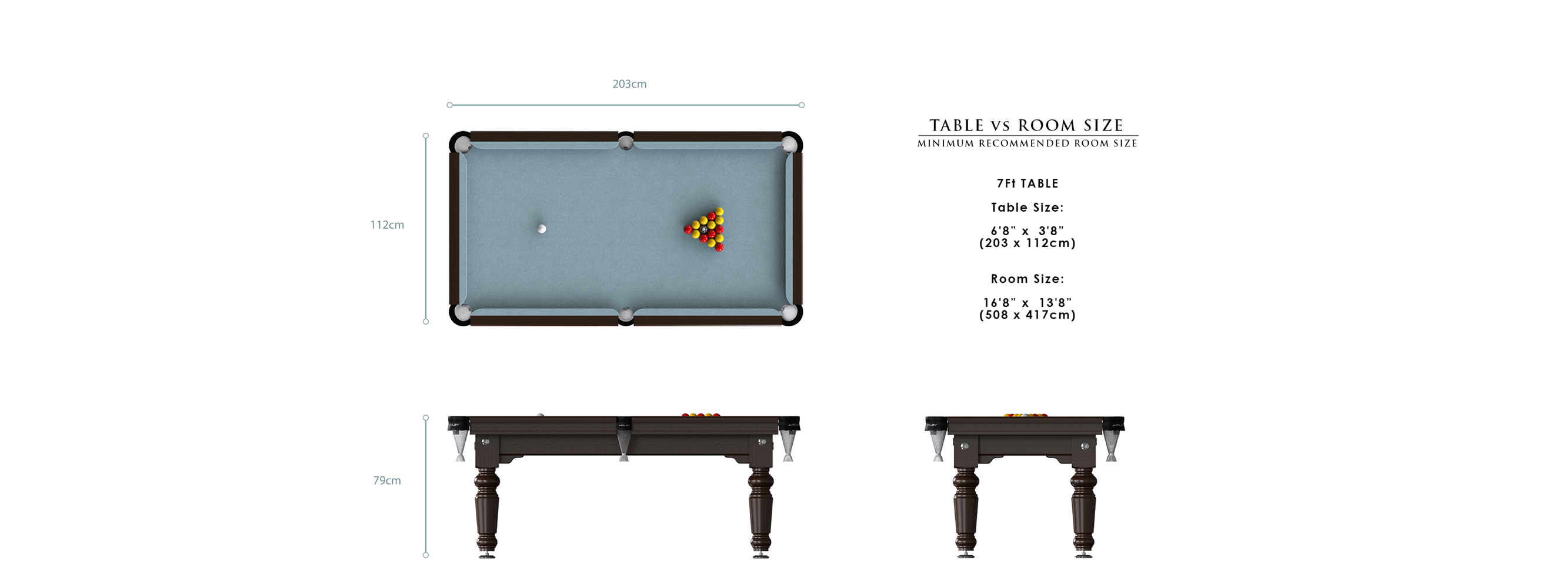 Riley Traditional Pool Table