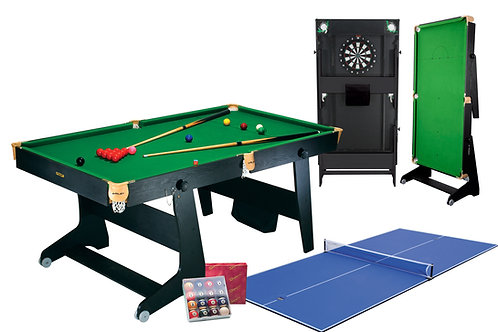 Riley 6Ft 4in1 Folding Snooker Table
