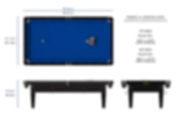 Riley Grand American Pool Table Dimensions