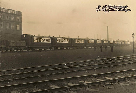Riley England Delivering A Snooker table Order by Train Circa 1910