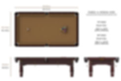 Riley Renaissance American Pool Table Dimensions