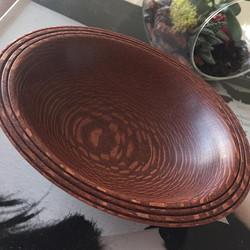 Leopard wood  bowl