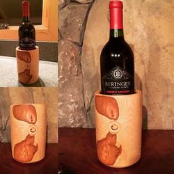 Butternut Wood Wine Bottle Holder
