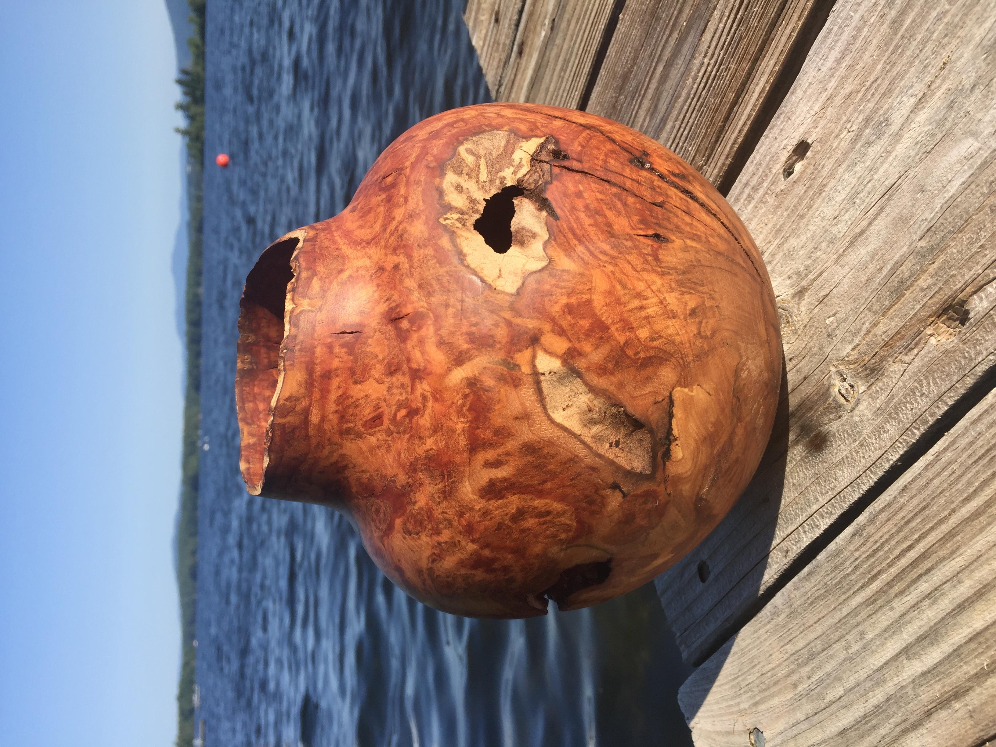 Cherry Burl Hollowed Vessel